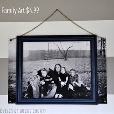 East Coast Creative {formerly RHBC}: Ginormous Family Art {With an Industrial Fl