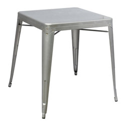 Fine Mod Imports - Talix Galvanized Steel Dining Table - Features: