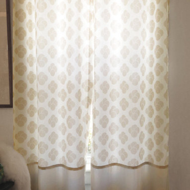 amydutton Window Treatments - Mac 2 Fabric Grommet Top Curtain Panel - You can have window treatments made out of any of Amy Dutton original fabrics!  These curtains have a grommet top and are made with 2 different color ways of the Mac fabric.
