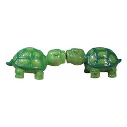 WL - 1.5 Inch Light and Dark Green Turtles Kissing Salt and Pepper Shakers - This gorgeous 1.5 Inch Light and Dark Green Turtles Kissing Salt and Pepper Shakers has the finest details and highest quality you will find anywhere! 1.5 Inch Light and Dark Green Turtles Kissing Salt and Pepper Shakers is truly remarkable.