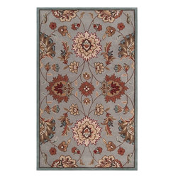 Surya - Transitional Kingston 5'x8' Rectangle Flint Gray, Foggy Blue Area Rug - The Kingston area rug Collection offers an affordable assortment of Transitional stylings. Kingston features a blend of natural Flint Gray, Foggy Blue color. Hand Tufted of 100% Polyester the Kingston Collection is an intriguing compliment to any decor.