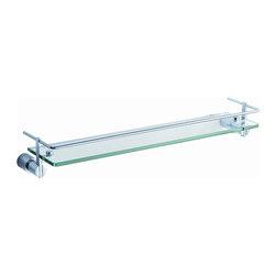 "Fresca - Fresca Magnifico 21"" Glass Shelf w/ Railing - Chrome - Fresca Magnifico 21"" Glass Shelf w/ Railing - Chrome"
