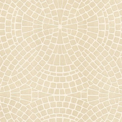 Brewster Home Fashions - Hanley Sand Mosiac Tile Wallpaper Bolt - Create a wonderful mosaic of sandy hues with this lush tile wallcovering that brings an ultra-sophisticated look to bathroom walls.