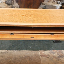 Anigre Executive Desk - (Currently available for sale. Contact john@lonestarartisans.com for pricing and details. Can ship anywhere.)