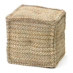 Go Home - Hemp Boatyard Pouf - In a cool square shape, our organic Pouf packs power house style for an affordable price. Arrange a few around one of our reclaimed wood coffee tables for casual seating.