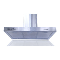 """WindMax - 36"""" Euro Style Kitchen Wall Mount Stainless Steel Glass Range Hood Chimney Vents - * Brand New 36"""" Wall Mount Stainless Steel Kitchen Range Hood."""