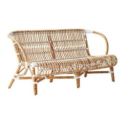 Serena & Lily - Marina Loveseat - We started with the natural beauty of rattan. We applied the clean silhouette of 60s Scandinavian design, an unexpectedly open weave, and crisp white details. The result: A look that's graceful, casual, and perfect indoors or out. A close look reveals wonderfully organic marks, created while bending and stretching the rattan into shape (a time-honored technique perfected by the French). Add a pillow in one of our signature fabrics for a pop of color and cushion.