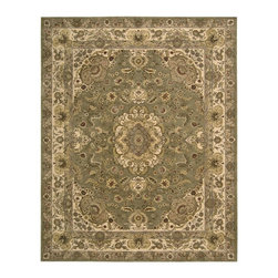 Nourison - Nourison Nourison 2000 Olive Area Rug - Redefine luxury with Nourisons most popular handmade signature collection featuring Persian and Contemporary traditional designs. The dense pile splendid patterns deeply compelling textures and intriguing aesthetics are certain to command immediate attention in any setting.