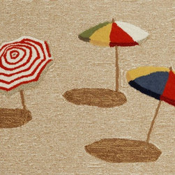 TransOcean Front Porch Collection – Beach Umbrella Outdoor Rug - Get a great accent rug for the living room or patio with TransOcean Front Porch Collection – Beach Umbrella Outdoor Rug. This rug is no exception and will bring the coastal paradise to your home. Durable enough for kid spaces and sure to liven up any indoor or outdoor space. This rug is mold and mildew resistant to provide long-lasting performance in open-air living spaces where water and moisture are prevalent.