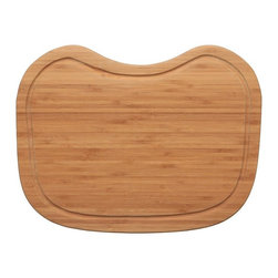 "Ukinox - Ukinox CB376HW Wood Cutting Board - Constructed from high quality bamboo hardwood, this cutting board seamlessly blends durability with ease of use. Designed to provide a convenient place for prepping and cleanup, the cutting board slides comfortably from side to side within a sinks beveled edge. Features: Bamboo hardwood cutting board. Beveled to sit within sink ledge. 3/8"" juice channel to drain liquids away from the cutting surface. Fits undermount sinks with min. 1/2"" reveal. Specifications: Total Product Length: 12 in. Total Product Width: 15.75 in. Total Product Thickness: 1 in. Product Weight: 4 lbs. Material: Bamboo Hardwood."
