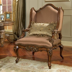 Casanova - This Victorian reproduction is made of kiln-dried cherry and upholstered in chenille and silk.