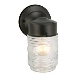 "Design House - Design House 502195 Jelly Jar 1 Light Outdoor Down Light 4-1/2"" D x 7-1/2"" H x 5 - Design House Jelly Jar Outdoor Down LightThe Jelly Jar Collection's Small Scale Is Perfectly Suited For The Back Entry."