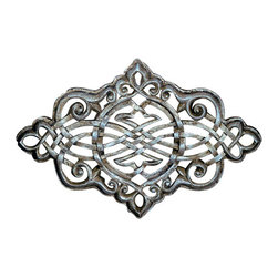 "Factory Direct Wall Decor - Persian Grille Wall Sculpture - The Persian Grille A is a beautiful oval shaped scroll designed grille with a metal type texture. The dimensions of the piece are 36""W x 24""H x 2"" in Depth, and approximately weighs 10 lbs."