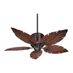 Savoy House - Portico Outdoor Ceiling Fan - This sleek outdoor ceiling fan is perfect for flaunting your personality! This fan features a classic English Bronze finish with unique Palm Leaf blades and is UL Damp Location Certificatied.