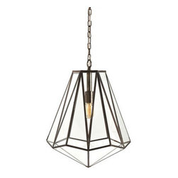 Arteriors - Arteriors Home - Edmond 1 Light Foyer Pendant - 46361 - Arteriors Home - Edmond 1 Light Foyer Pendant - 46361 Features: Edmond Collection Pendant Antique brass FinishIron and glass MaterialAntique brass and clear glass finish Some Assembly Required.