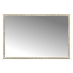 "Posters 2 Prints, LLC - 72"" x 48"" Libretto Antique Silver Custom Framed Mirror - 72"" x 48"" Custom Framed Mirror made by Posters 2 Prints. Standard glass with unrivaled selection of crafted mirror frames.  Protected with category II safety backing to keep glass fragments together should the mirror be accidentally broken.  Safe arrival guaranteed.  Made in the United States of America"