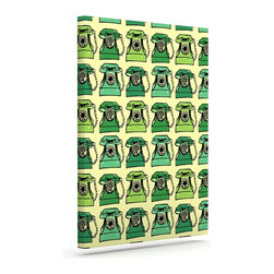 """Kess InHouse - Holly Helgeson """"Vintage Telephone"""" Green Pattern Wrapped Art Canvas (24"""" x 20"""") - Bring your outdoor patio to life with this artistic outdoor canvas wrap featuring gorgeous artwork by KESS InHouse. These canvases are not only easy to hang and remove but also are the perfect addition to your patio collection. These canvases are stretched around a wooden frame and are built to withstand the elements and still look artistically fabulous. Decorating your patio and walls with these prints will add the splash of art and color that is needed to bring your patio collection together! With so many size options and artwork to choose from, there is no way to go wrong with these KESS Canvas Wraps!"""