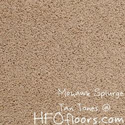Mohawk Carpet Splurge - Mohawk Splurge, Tan Tones 12' Smartstrand Trixeta BCF carpet. Available at HFOfloors.com.