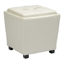 Office Star - Office Star Metro Storage Ottoman in Red with Dual Trays and Seat Cushions - Features: