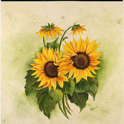 Appliance Art - Appliance Art 'Sunflowers' DA Dishwasher Cover - This magnetic dishwasher cover offers a quick and easy way to add a touch of style to your kitchen or camouflage an outdated dishwasher. The cheerful, sunflower-themed cover can be trimmed for a custom fit, and easily cleaned with soap and water.