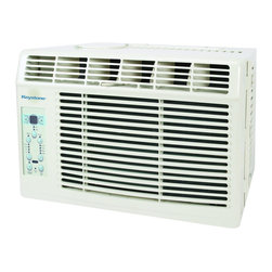 "Keystone - Keystone KSTAW06A Energy Star 6,000 BTU 115-Volt Window-Mounted Air Conditioner - The Keystone KSTAW06A 6,000 BTU 115V Window-Mounted Air Conditioner is perfect for cooling a room up to 250 square feet. It has electronic controls with LED display and a temperature sensing, full-function ""Follow Me"" LCD remote control allowing you to conveniently see, set and maintain the room temperature from across the room. Additional features include energy-saver mode, sleep mode and auto-restart.6,000 BTU air conditioner for window-mounted installation