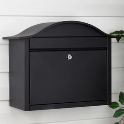 Palace Locking Wall-Mount Mailbox - The arched design of the Palace Locking Wall-Mount Mailbox make this a stylish addition to your home's exterior, while the locking feature adds security to your mail. The pre-drilled holes on the backplate make installation simple.