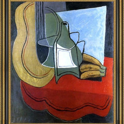 """Art MegaMart - Juan Gris Bananas - 20"""" x 25"""" Framed Premium Canvas Print - 20"""" x 25"""" Juan Gris Bananas framed premium canvas print reproduced to meet museum quality standards. Our Museum quality canvas prints are produced using high-precision print technology for a more accurate reproduction printed on high quality canvas with fade-resistant, archival inks. Our progressive business model allows us to offer works of art to you at the best wholesale pricing, significantly less than art gallery prices, affordable to all. This artwork is hand stretched onto wooden stretcher bars, then mounted into our 3 3/4"""" wide gold finish frame with black panel by one of our expert framers. Our framed canvas print comes with hardware, ready to hang on your wall.  We present a comprehensive collection of exceptional canvas art reproductions by Juan Gris."""