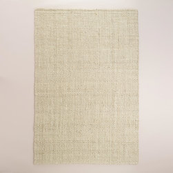 World Market - Bleached Ivory Basketweave Jute Area Rug - Crafted of 100% jute with a soft underfoot feel, our exclusive Bleached Ivory Basketweave Jute Area Rug is at home in both casual and formal settings. A fresh change of pace from traditional coverings, this versatile rug features a natural woven texture.