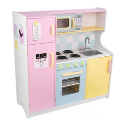 Kidkraft - KidKraft Pastel Play Kitchen - Kidkraft - Kitchens - 53181 - Bon appetit! It's time to cook up some creativity with our classic kitchen! This Kid-Sized favorite features bright colors imaginative details and is sure to impress the young chefs in your life.