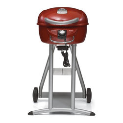 Char-Broil - Char-Broil Electric Grill Salsa Red - Char-Broil TRU Infrared heats the food directly, locking in mouth watering flavor and juices.  Even heat, no hot or cold spots.  Patio sized for compact spaces.  Precision dial electric control.  Designer color.  240 sq. in. primary plus 80  sq. in. secondary equals 320 sq. in. total cooking area.   1750 Watts  grilling power.  12 Hamburger capacity.  Easy clean porcelain coated exterior grill surface.  Porcelain coated premium cooking grate.  Easy assembly.  Certified for use in US with Canadian model available.