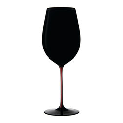 Riedel - Riedel Sommeliers Black Series Collector's Edition Bordeaux Grand Cru Wineglass - Bring stemware with a sense of drama to your table. A Bordeaux Grand Cru glass in black lead crystal makes every sip a special occasion.