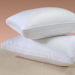 Downright - Himalaya 800 Goose Down Pillow - Features: -Siberian goose down pillow.-Material: 800 Fill power Siberian goose down.-354 Thread count sateen cover.-Complement finest linens.-Sanders of Germany finest shell.-Kolb and Sch le uses the finest tick.-Hypo-allergenic.-Silk piping and double stitching.-Utmost comfort.-Elegant and light pillow.-Sleep in a cloud of luxury.-Color: White.-Special SanProCare finish permits superior moisture evaporation.-Himalaya 800 collection.-Collection: Himalaya 800.-Distressed: No.-Country of Manufacture: United States.Dimensions: -Product weight: 0.88 lb.-Breakfast: 16'' W x 12'' D.-Standard: 26'' W x 20'' D.-Queen: 30'' W x 20'' D.-King: 36'' W x 20'' D.-Euro: 26'' W x 26'' D.