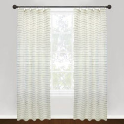 Park B. Smith - Park B. Smith Vintage House Jordan Serpentine Tab Top Window Curtain Panels - These stylish window curtain panels feature an all-natural jute-cotton mix with a cotton buttery finish. Horizontal stripes run across the width of the panel, adding to its eye-catching appeal.
