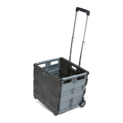 """Ecr4kids - Ecr4Kids Memorystor Universal Rolling Cart Retail Pkg, 4 Pack - The MemoryStor Universal Rolling Cart holds up to 65 pounds! Folds flat to 3"""". Extra wide, rubber wheels. Telescoping handle that extends to 23"""" from cart and locks in 3 positions for easy mobility. Cart accommodates letter size folders, hanging files or binders and features built-in hand-grips for easy moving and lifting. Double rails lock sides securely."""