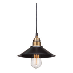 Zuo Modern Contemporary, Inc. - Amarillite Ceiling Lamp Antique Black Gold & Brass - The Amarillite Ceiling Lamp is straightforward yet exquisite. Made of antique black gold and brass with a 40 watt bulb. If the art deco era birthed a blooming flower, it would look like this lamp.