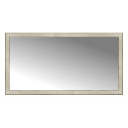 """Posters 2 Prints, LLC - 51"""" x 27"""" Libretto Antique Silver Custom Framed Mirror - 51"""" x 27"""" Custom Framed Mirror made by Posters 2 Prints. Standard glass with unrivaled selection of crafted mirror frames.  Protected with category II safety backing to keep glass fragments together should the mirror be accidentally broken.  Safe arrival guaranteed.  Made in the United States of America"""