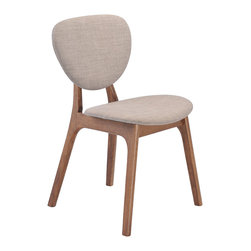 Zuo Modern Contemporary, Inc. - Omni Dining Chair Dove Gray (set of 2) - Slender shapes and clean lines in rubberwood define the Omni Chair's comfort and look.  With textured polyblend fabric, this chair gives a warm look to any contmporary space.  It is a great piece of design