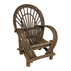 Mexican Artisans - Teton Twig Arm Chair - Call it cabin couture! This charming hand-crafted armchair, fashioned from willow tree branches, brings comfort and character to your favorite rustic setting, indoors or out.