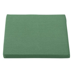 Regatta Sunbrella® Bottle Green Dining Chair Cushion - Optional chic cushion in rich bottle green is fade- and mildew-resistant Sunbrella® acrylic.