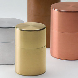 Hand Made Canister - Made by the same family in Kyoto since 1875, these tea canisters are real works of art. Designed to gracefully patina over time, I would definitely use these to store my coffee and display on my kitchen countertops. These really turn tea and coffee drinking into a ritual.