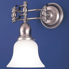 Bathroom Vanity Lighting Adjustable Wall Task Light by Hudson Valley