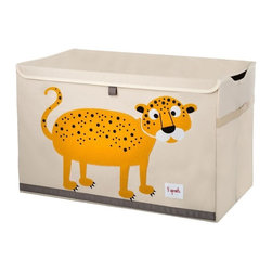 3 Sprouts - 3 Sprouts Toy Chest, Leopard - Our 3 Sprouts orange toy chest in leopard pattern is the perfect organizational tool for any room. With sides reinforced by cardboard our toy chest stands at attention even when empty and the lid keeps all toys out of sight. Large enough to hold whatever you throw in it, this toy chest adds a pop of fun to every room. The 3 Sprouts toy chest makes organizing a room full of toys easy.