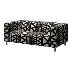 Klippan Love Seat Cover, Storlien Black/White - This Klippan love seat slipcover from Ikea will give you a lot of bang for your buck. It makes a big statement, without a big price tag. Plus, I love its hand-sketched geometric vibe.