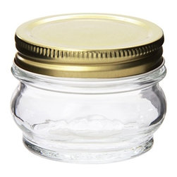 GLOBAL AMICI - Orto Canning Jar With Lid 5.5-ounce, Set of 6 - Amici's italian orto canning jar is fantastic for canning fruits, veggies, jams and jellies.