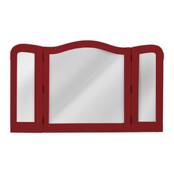 EuroLux Home - Mirror Red Painted Hardwood Tri-Panel - Item #: TW-965