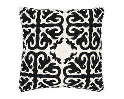 Safavieh - Moroccan Accent Pillow  - 22x22  - Black - Moroccan Accent Pillow  - 22x22  - Black
