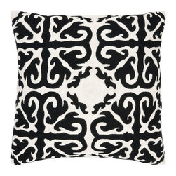 Safavieh - Moroccan Accent Pillow  - 22x22  - Black - Moroccan Accent Pillow  - 22x22  - Black