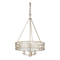 "Troy Lighting F1903 Aqua 3 Light Single Tier Chandelier - When this chandelier is in a designed space, we tend to get a lot of ""where do I find that chandelier"" questions on our Questions Board. So here it is! Gilded, bubbly, elegant and glowing."