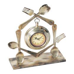 Sterling Industries - Utensil Metal Clock - Utensil Clock ( 1- AA Battery Not Included) by Sterling Industries