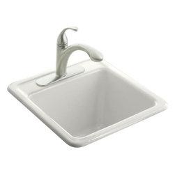 KOHLER - KOHLER K-6655-1-0 Park Falls Self-Rimming Sink with One-Hole Faucet Drilling - KOHLER K-6655-1-0 Park Falls Self-Rimming Sink with One-Hole Faucet Drilling in White
